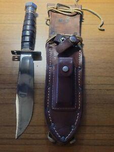 Vintage-Korean Era-MARBLES-US PIOLOTS BAILOUT SURVIVAL KNIFE +SHEATH