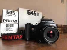 Pentax 645 Medium Format Slr Film Camera with 75 mm lens Kit