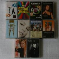 10 Lot Cassette Tapes Pop Dance 1980 1990 Ladies Madonna Janet Jackson Paula