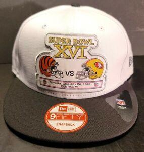 Super Bowl XVl Team Rival Bengals vs 49ers Snapback Flat Bill Brim Hat Cap Lid