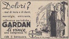 Y3744 Compresse GARDEN - Bayer - Pubblicità d'epoca - 1937 vintage advertising