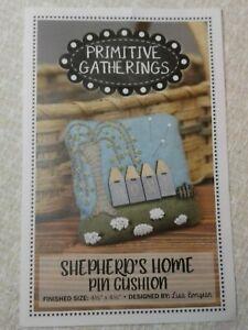 Primitive Gatherings Wool Applique Shepherd's Home Pin Cushion Kit w/ Wool