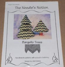 """Bargello Trees"" Needlepoint Kit - Pattern, Canvas, Silk & Ivory Threads STARTED"