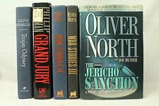 lot 5 old books Military WAR STORIES II III Oliver North Trojan Odyssey Grand