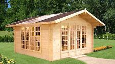 Gartenhaus Irene 1 Blockhaus Holzhaus Schuppen ca 400x400 Holz 34 mm