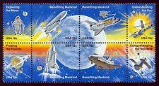 #1919a 18c Space Achievment, Se-Tenant Block, Mint ANY 4=