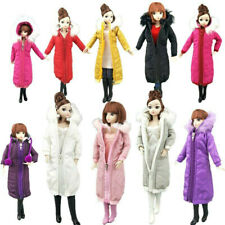 Long Coat Cotton Outfits for Barbie Doll Clothes Accessories Winter Wear Jacket