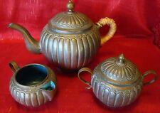 Vintage - Chinese - Copper Wash - Tea Set - Blue Enamel Inside - Gotta L@@K!!