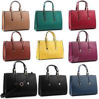 Ladies Faux Leather Celebrity Tote Bag Designer Handbag Women's Shoulder Bag