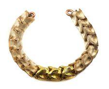 """Bracelet Real Natural Cobra Snake Spine Bone Man Mens 8""""  Adjustable Cuff White"""
