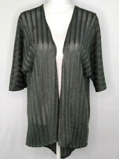 LuLaRoe Woman Open Cardigan Knit See Through 3/4 Sleeve Lightweight Gray Size S