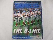 OCT 19 2008 NEW YORK GIANTS vs SAN FRANCISCO 49ERS GAME PROGRAM THE O-LINE