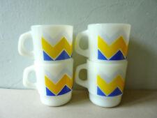 4 mugs Termocrisa Mexico, décor graphique, vintage des années 70