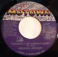 Michael Jackson 45 Farewell My Summer Love / Call On Me