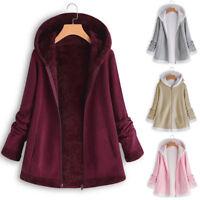 Spring Women's Casual Fashion Winter Pocket Zipper Long Sleeve Plush Hoodie Coat