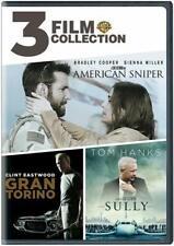 New! 3 Film Collection - American Sniper, Gran Torino & Sully - (Dvd)
