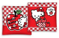 Hello Kitty Loves Apple Cushion Cover Print On Two Sides Red 16x16in