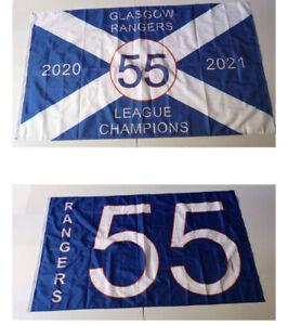 2 x Glasgow Rangers F C55 Flag Size 5ft x 3ft ,Loyalist ,WATP, 1 of each
