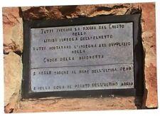 Cartolina Castelletto (Tofane) Guerra 1915-18 Targa Commemorativa - Retro con