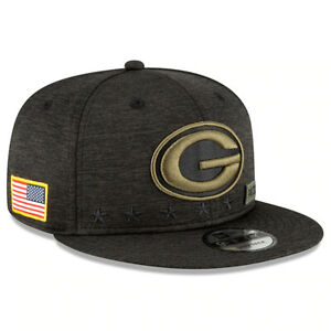 New Green Bay Packers New Era Salute to Service Sideline 9FIFTY Snapback Hat