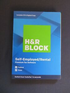 2019 H & R Block Self-Employed Rental Federal State FAST AUTHENTIC DOWNLOAD ONLY