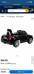 brand new black huffy audi electric toy car for children ages 3-5 12V electric
