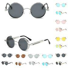 21ef8ded45 Vintage Polarized Steampunk Sunglasses Mens Brand Design Round UV400 Sun  glasses
