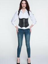 Royal Court Solid Patchwork Corset - Black