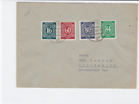 germany allied occupation  1948 numeral multi stamps  cover ref r14220