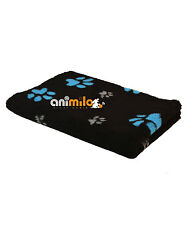 Tapis Confortbed Vetbed Dry Extra 3GP,26 mm noir motif pattes turquoise et gris
