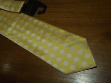 PROCHOWNICK Italy Silk Tie Yellow with White Dots  BNWT