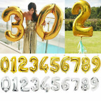 "40"" Giant Foil Balloons Number Shape Helium Wedding Birthday Party Christmas YA"