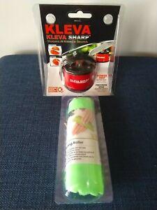 Knife Sharpener Garlic Peeler Roller Kleva Sharp New
