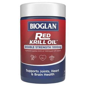 Bioglan Red Krill Oil Double Strength 1000 Mg Brain Eye Health 60 Capsules