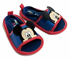 BABY BOY MICKEY MOUSE SANDALS WITH BACK STRAP 3-6 MONTHS