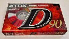 Tdk Audiocass D 90 min T02453 Singolo (e6a)