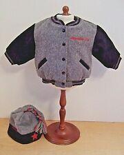 American Girl of Today Gray Varsity Jacket & Cap Pleasant Co 2000
