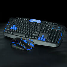 2.4G Wireless Gaming Keyboard + Game Mouse Set Combo for PC Laptop Desktops