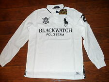 POLO RALPH LAUREN Custom Fit BIG PONY Mesh Polo Shirt BLACKWATCH, White, MED.