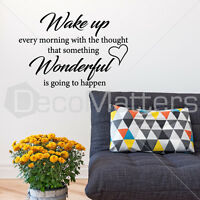 Wake Up Wonderful Quote Wall Sticker Living Room Vinyl Removable Art Decals UK