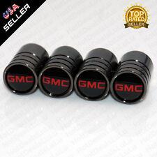 Black Chrome Wheels Tire Air Valve Caps Stem Valve Cover With GMC Emblem
