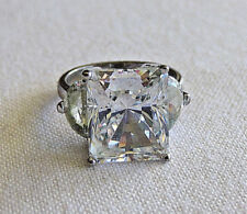 Silver Simulated Diamonds Ring Beautiful High Quality Sterling