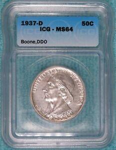1937-D MS-64 Error-Double Die Obverse Daniel Boone Classic  2,506 Minted