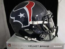 HOUSTON TEXANS Full Size AUTHENTIC SPEED Helmet - With VISOR NFL LICENSED