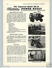 1951 PAPER AD Whiteman Motorized Wheelbarrow Power Buggy Dumping