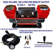AIR COMPRESSOR 12 V 4X4 RECOVERY TYRE INFLATOR DEFLATOR 300 L/MIN 4WD CAR TRUCK