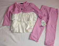 CALVIN KLEIN 18 MONTHS DRESS SET PINK SET LEGGINGS PINK GIRLS AUTH