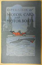 Operation Of Motor Cars And Motor Boats 1909 National Carbon Co