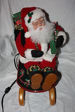 Holiday Creations Animated Santa on Sled with Lantern Plays Carols & Moves