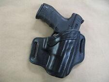 Walther PPQ M2 45 OWB Leather 2 Slot Molded Pancake Belt Holster CCW BLACK RH